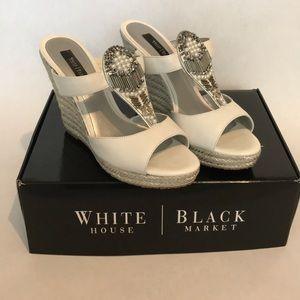 White House Black Market White Silver Platforms